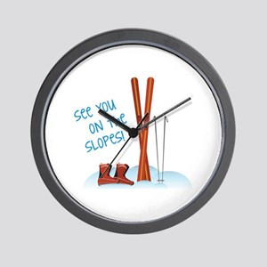 See you on the slopes! Wall Clock