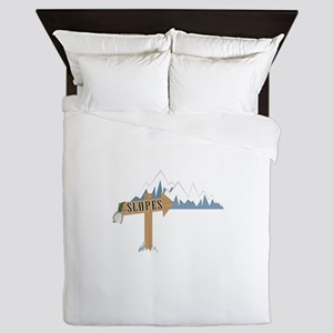 Slope Mountains Queen Duvet