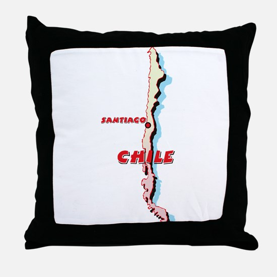 Chile Map Throw Pillow