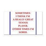 tennis Rectangle Car Magnet