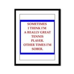 tennis Framed Panel Print