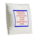 tennis Burlap Throw Pillow