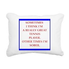 tennis Rectangular Canvas Pillow