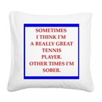 tennis Square Canvas Pillow