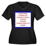 tennis Plus Size T-Shirt