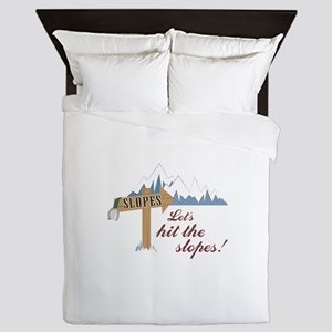 Let's Hit the Slopes! Queen Duvet