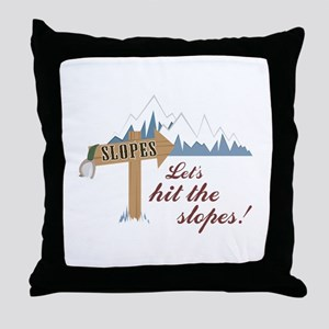 Let's Hit the Slopes! Throw Pillow