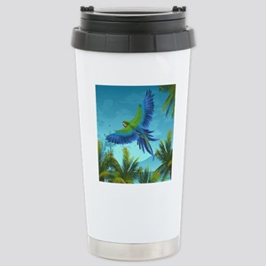 Tropical Bird Stainless Steel Travel Mug