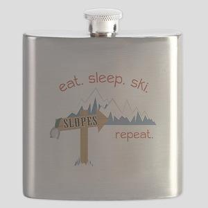 Slopes Eat. Sleep. Ski. Repeat. Flask