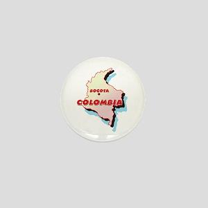 Colombia Map Mini Button