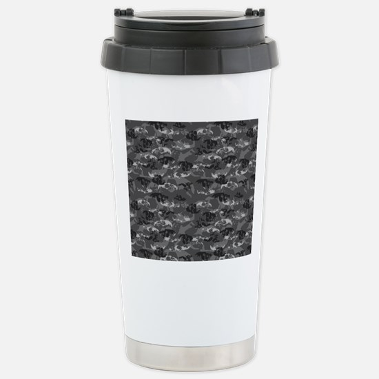 Skully Camoflage Stainless Steel Travel Mug