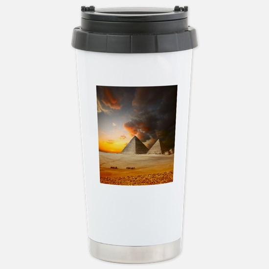 Great Pyramids of Giza Stainless Steel Travel Mug