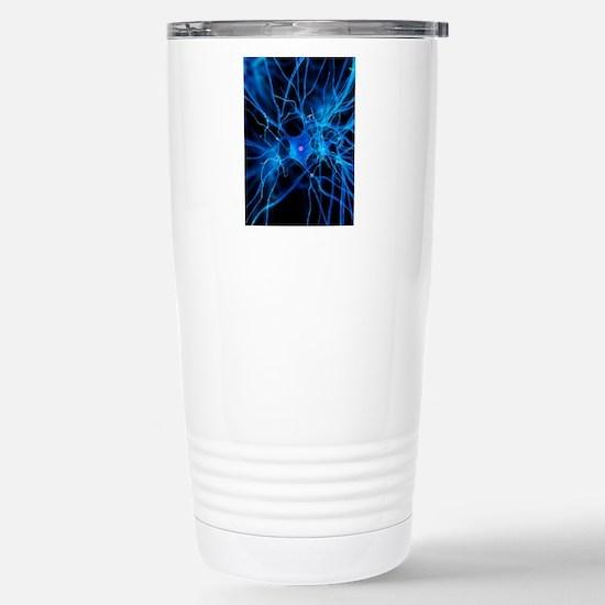 Nerve cell, artwork Stainless Steel Travel Mug