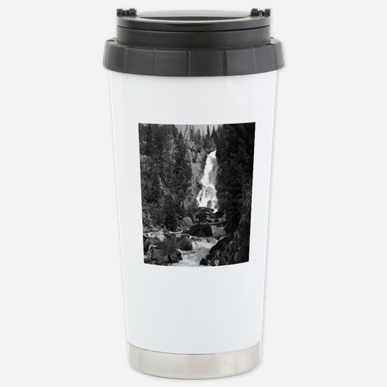Mountain Waterfall Stainless Steel Travel Mug