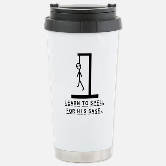 Learn to spell Stainless Steel Travel Mug