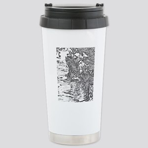 Flowing Silver Stainless Steel Travel Mug