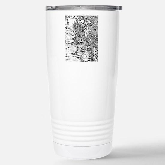 Flowing Silver Stainless Steel Travel Mug