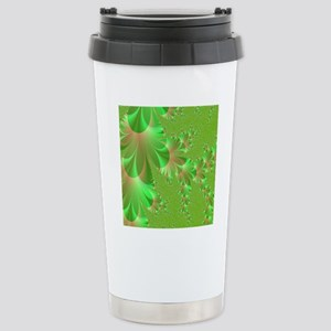 green and peach shower  Stainless Steel Travel Mug