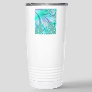 Aqua shower curtain Stainless Steel Travel Mug
