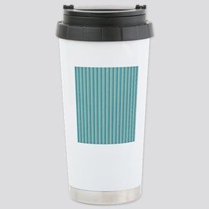 Teal and Gold Stripes Stainless Steel Travel Mug