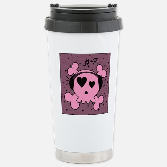 ms_Square Canvas Pillow Stainless Steel Travel Mug