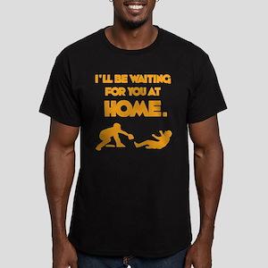 WAITING Men's Fitted T-Shirt (dark)