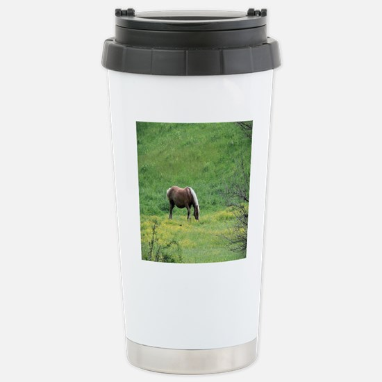 Amish Draft Horse Stainless Steel Travel Mug
