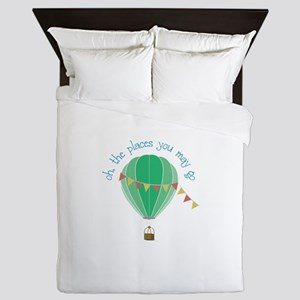 oh, the places you may go Queen Duvet