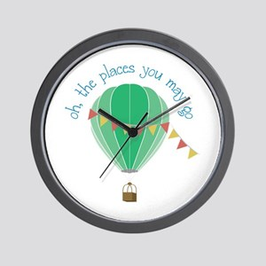 oh, the places you may go Wall Clock