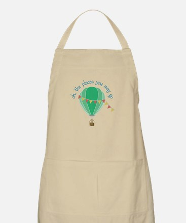 oh, the places you may go Apron