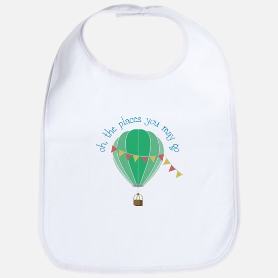 oh, the places you may go Bib