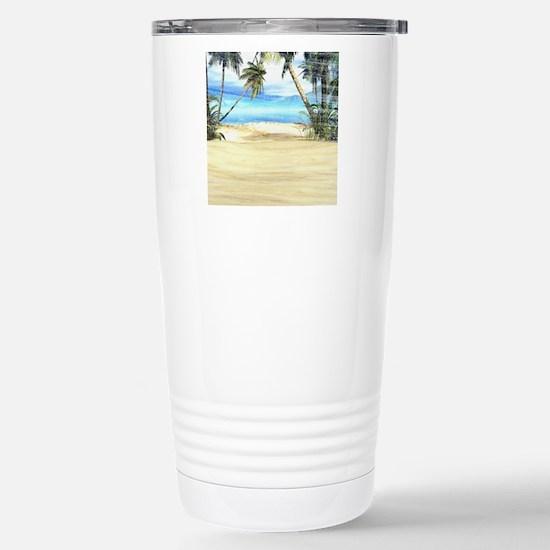 Tropical Island Sea Stainless Steel Travel Mug
