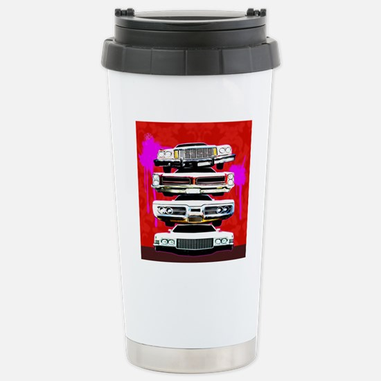 Stack of cars Stainless Steel Travel Mug