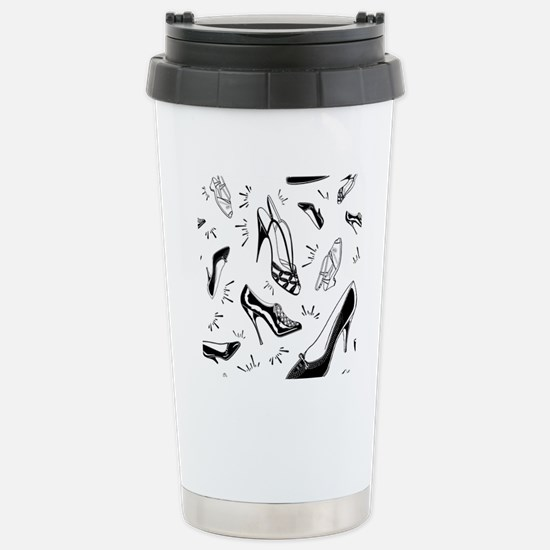 Ladies Shoe Pattern Stainless Steel Travel Mug