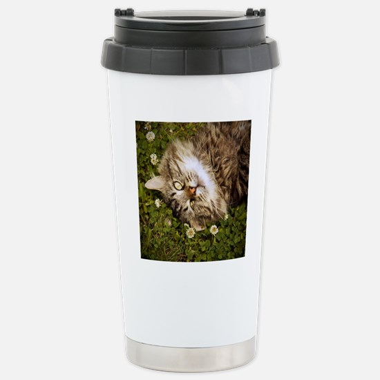 A brown long-haired tab Stainless Steel Travel Mug