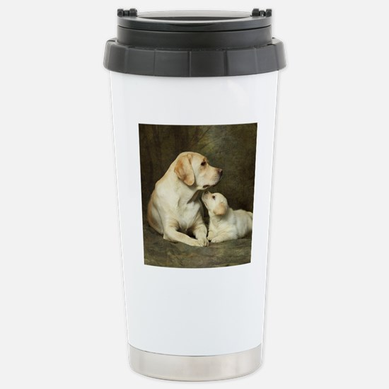 Labrador dog with her p Stainless Steel Travel Mug
