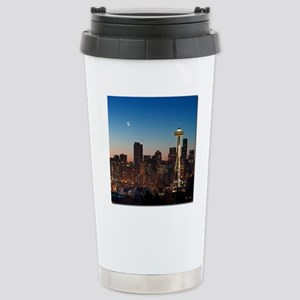 Moon rising over the ic Stainless Steel Travel Mug