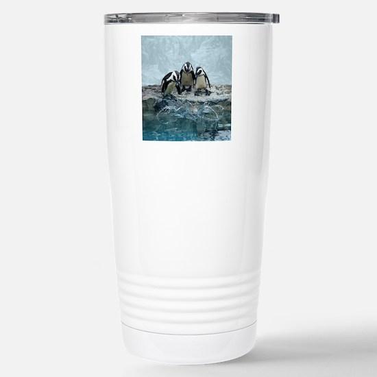 Jackass penguins overlo Stainless Steel Travel Mug