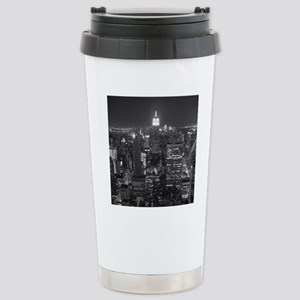 New York City at Night. Stainless Steel Travel Mug