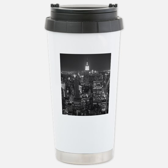 New York City at Night. Stainless Steel Travel Mug