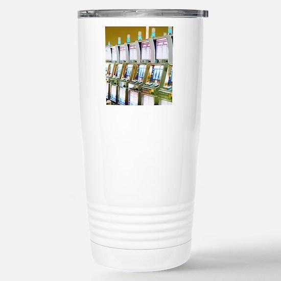 Row of Slot Machines Stainless Steel Travel Mug
