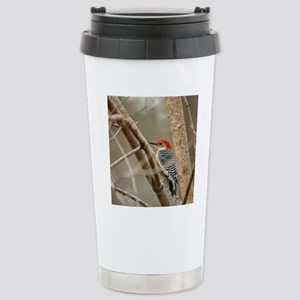Red-bellied Woodpecker Stainless Steel Travel Mug