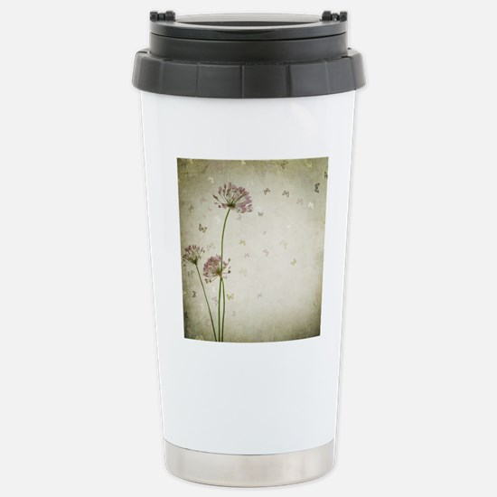 Vintage Floral Stainless Steel Travel Mug