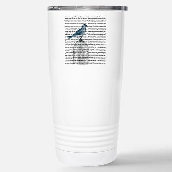 Bird on Cage Stainless Steel Travel Mug