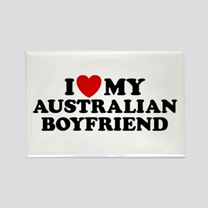 I Love My Australian Boyfriend Rectangle Magnet