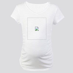 Broken Internet Image Icon Maternity T-Shirt
