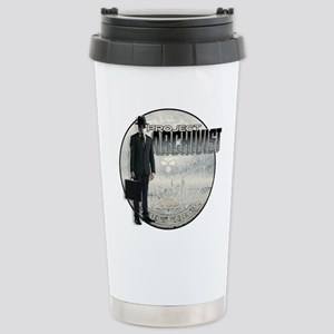 Project Archivist White Stainless Steel Travel Mug
