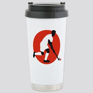 field hockey player Stainless Steel Travel Mug