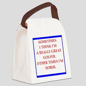 golfer Canvas Lunch Bag