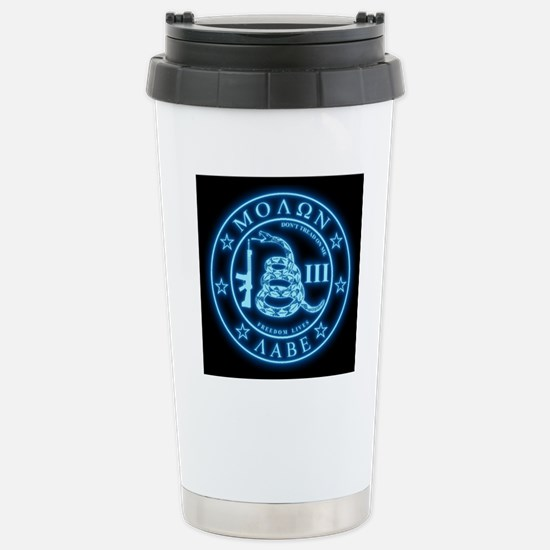 Square - Molon Labe - B Stainless Steel Travel Mug